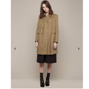 NWOT Carven Double Breasted Trench Coat